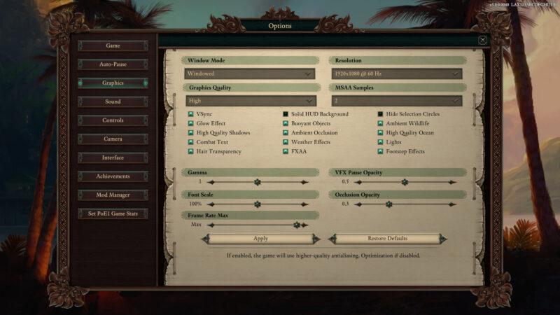Pillars of Eternity II : Deadfire 英語版